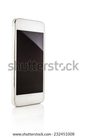 Smartphone isolated on white background. - stock photo