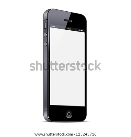 Smartphone isolated on white background. Raster version - stock photo