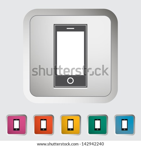 Smartphone single icon. Vector version also available in my portfolio. - stock photo