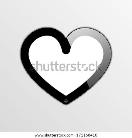 smartphone - smartheart.  frame.(rasterized version) - stock photo