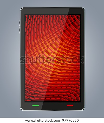 smartphone with abstract background