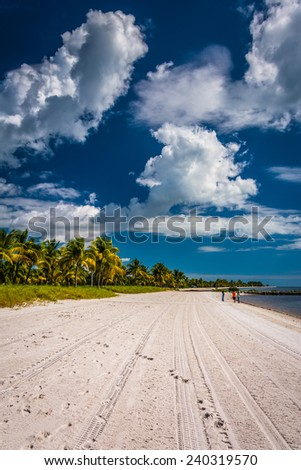 Smathers Beach, in Key West, Florida. - stock photo