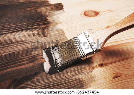 Smear of paint brush - stock photo