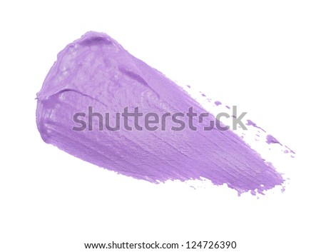 smear paint or cream isolated on white background - stock photo