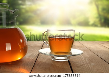 smell of tea  - stock photo