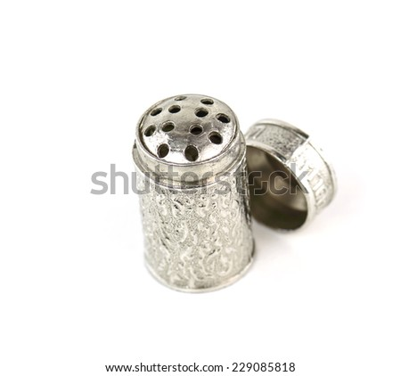 smelling salt isolated on white background