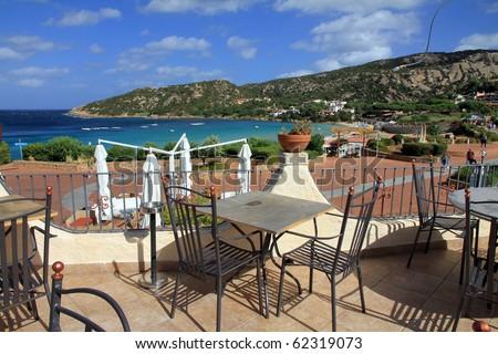 Smerald coast Baia Sardinja, Sardinia island, Italy - stock photo