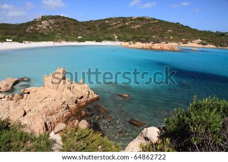 Smerald coast, Principe cove in Arzachena, Olbia province, Sardinia island, Italy - stock photo