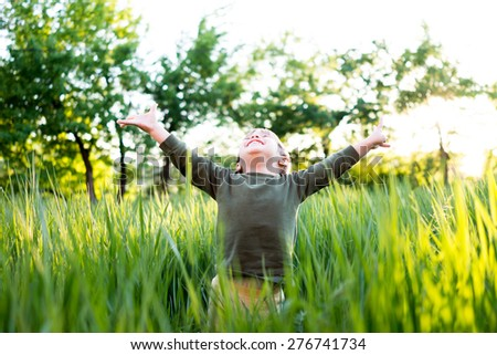 Smile and happiness kid - stock photo