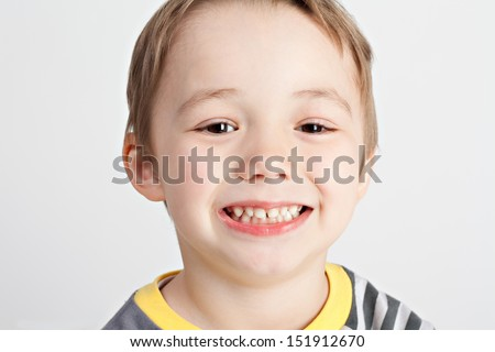 Smile boy - stock photo