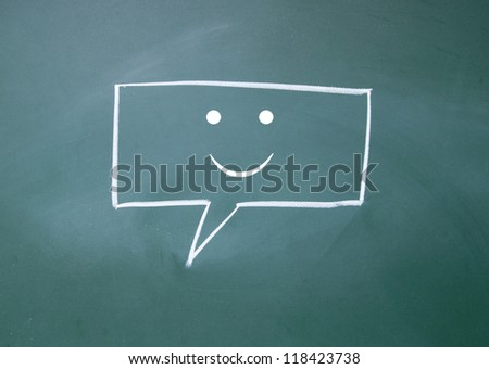 smile chat sign