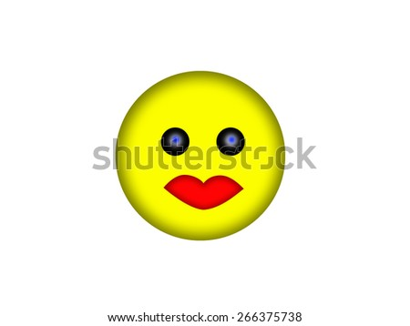 Smile face - stock photo