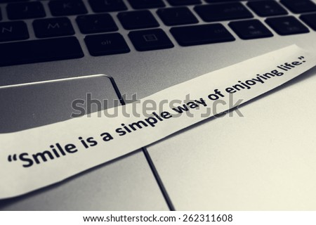 Smile is a simple way of enjoying life - stock photo