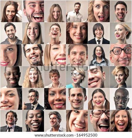Smiles - stock photo