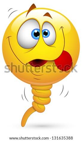 Smiley Illustration - Balloon Face - stock photo
