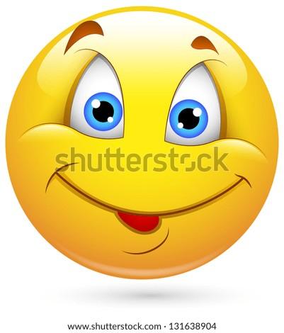 Smiley Illustration - Dumb Face - stock photo