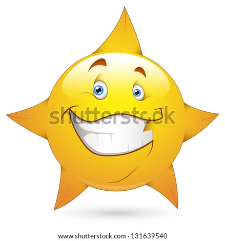 Smiley Illustration - Star Face