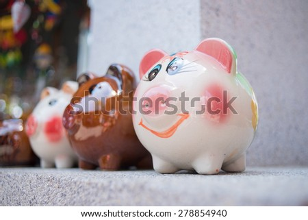 smiley  piggy bank
