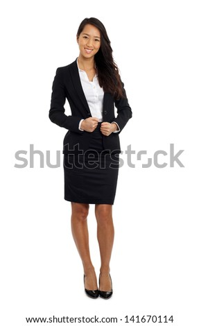 Smiling Asian Business woman in formal suit