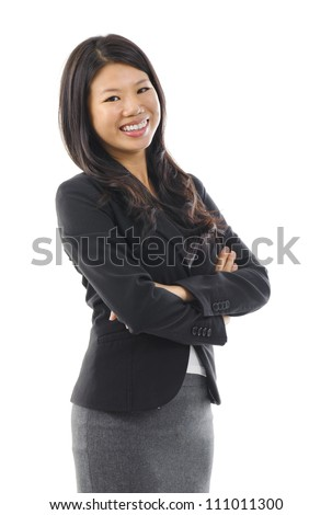 Smiling Asian Educational / Business woman. - stock photo