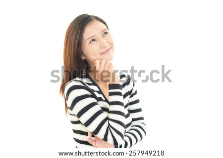 Smiling Asian woman - stock photo
