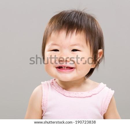 Smiling baby - stock photo