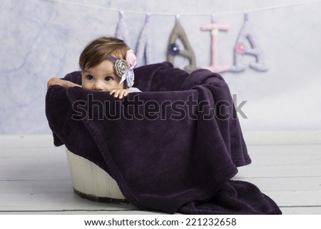 Smiling Baby Girl in tub