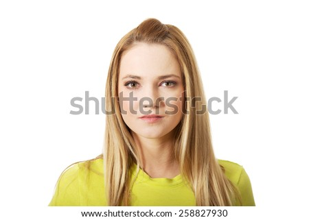 Smiling beautiful young student woman. - stock photo