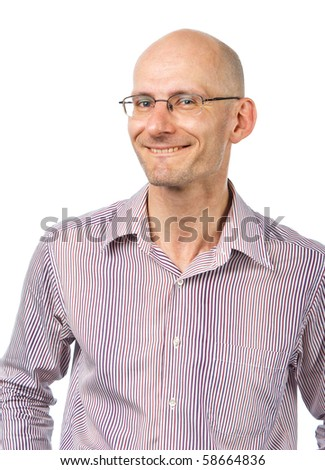 Smiling bespectacled man