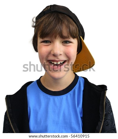 smiling boy isolated
