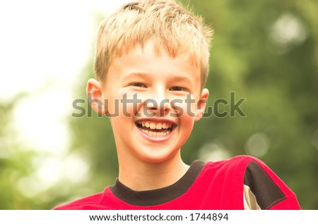 Smiling boy portrait - stock photo