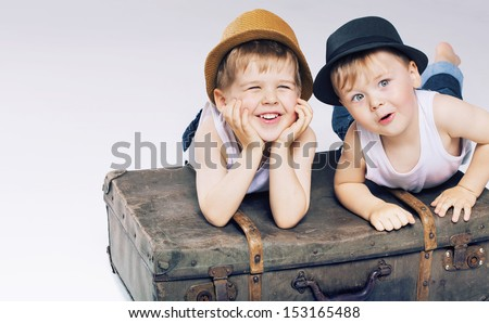 Smiling boys - stock photo