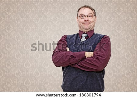 Smiling Business Man with Arms Folded - stock photo