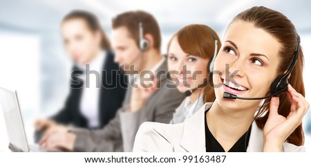 Smiling call center