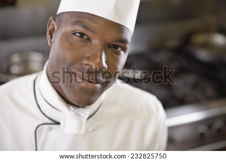 Smiling Chef - stock photo