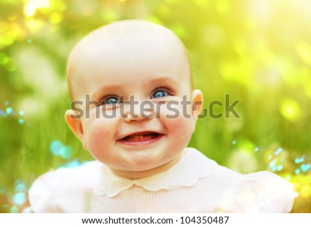 smiling child on the field