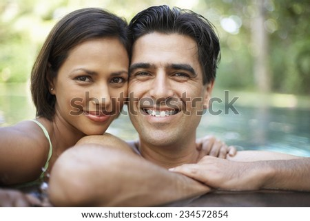 Smiling Couple in Water