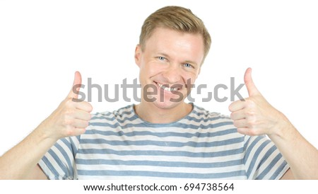 Smiling Designer with thumb up