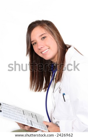 Smiling female healthcare professional