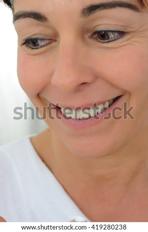 smiling fifty year old woman