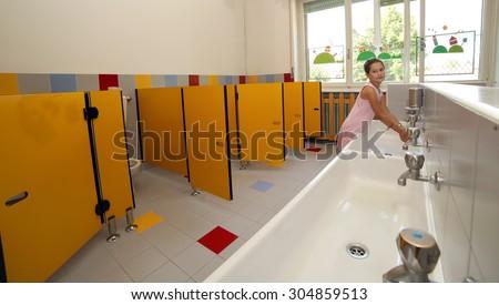 School Bathroom Stock Images Royalty Free Images Vectors