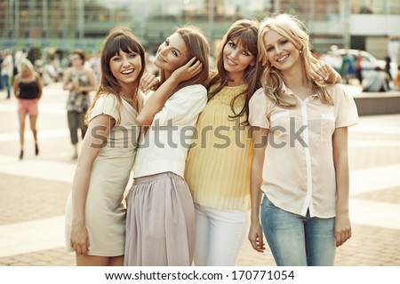 Smiling girls
