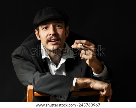 Smiling guy with a cigarette