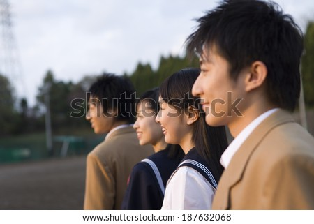 smiling high scool student - stock photo