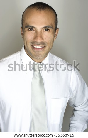 Smiling Hispanic Man - stock photo