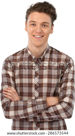 Smiling, Human Face, Teenager. - stock photo