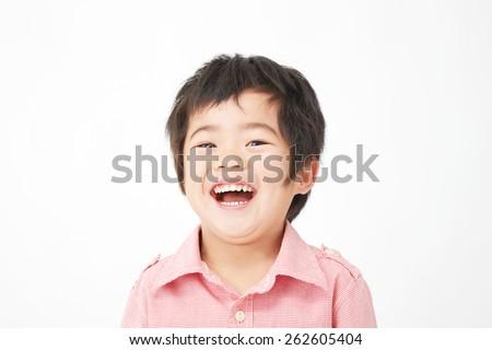 smiling Japanese child - stock photo