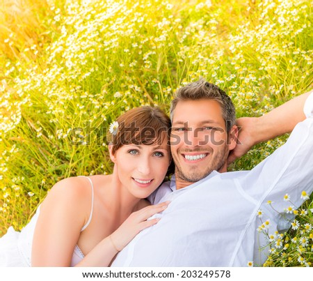 smiling joyful happy carefree two - stock photo