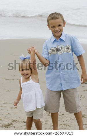 Smiling Kids - stock photo