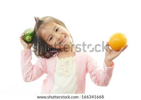 Smiling little Asian girl  - stock photo